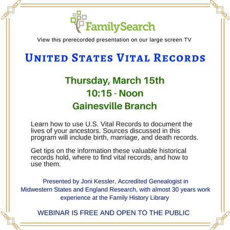 United States Vital RecordsArticle