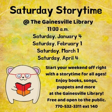 GVL Saturday Storytime Winter 2020