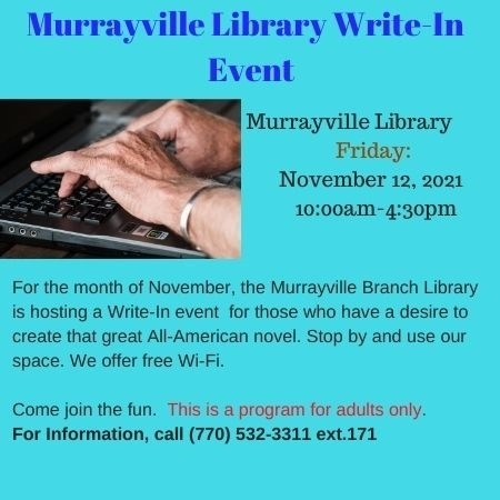 Web  Murrayville Library Write in Event November 2021 Adult